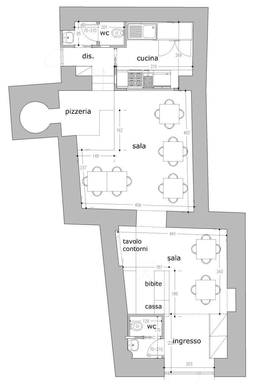 Progettazione d\'interni | ristorante-pizzeria |