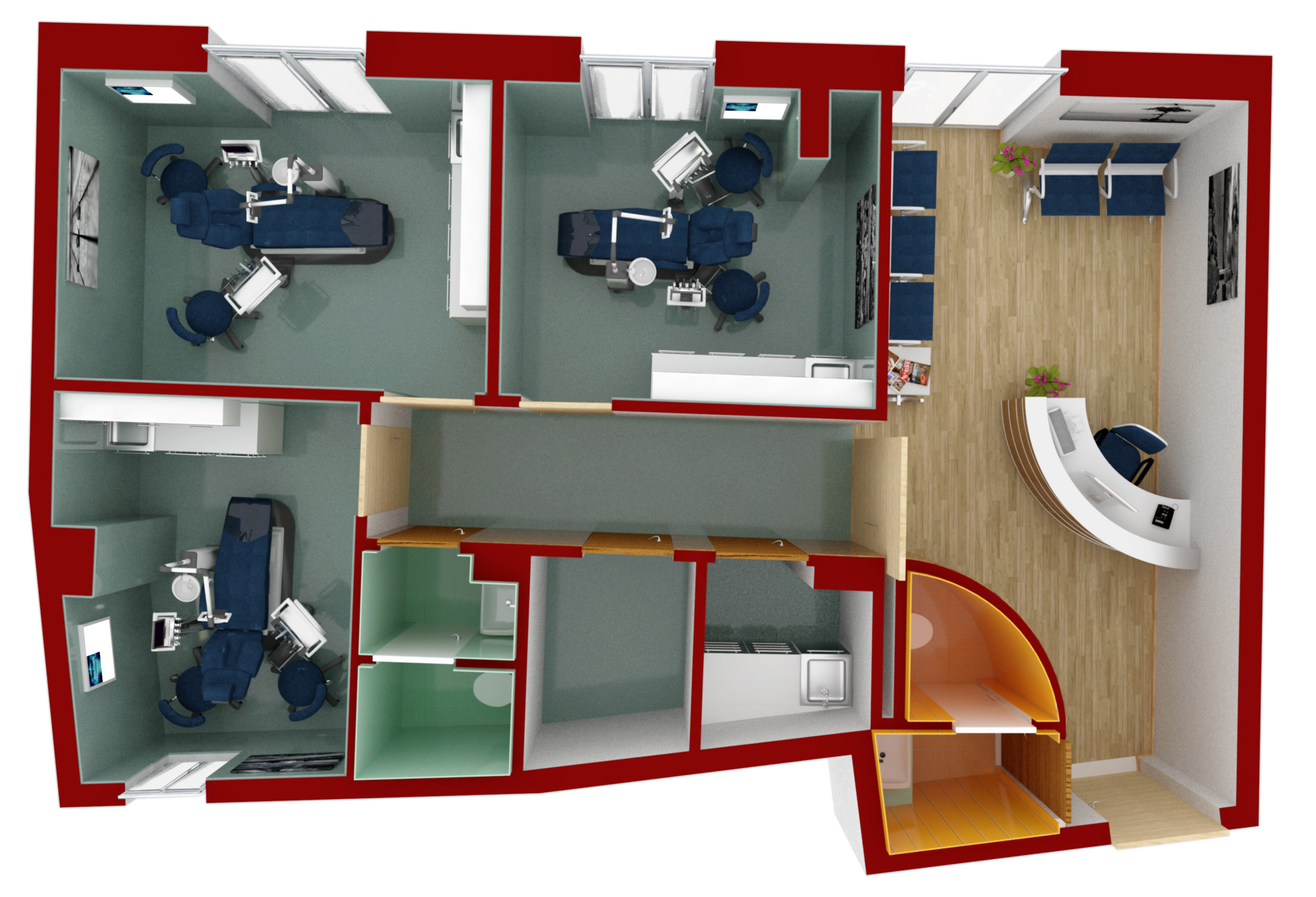 Progettazione d 39 interni studio dentistico for Studio design interni milano